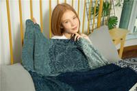 baumwollwebartteppiche großhandel-Baumwollgewebte Sofa-Bett-Wurf-Decke Tagesdecke-Sofabettteppich BOHO A1