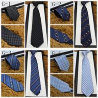 pajarita de navidad a cuadros al por mayor-Marca de alta calidad Corbata de diseño 100% corbata de seda con caja de empaque 7.5 cm corbatas clásicas edición de la marca de los hombres casual tieith estrecha nave rápida