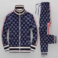 mens spor eşofmanı toptan satış-Erkek Eşofman Sweatshirt Takım Elbise Lüks Spor Takım Elbise Erkek Hoodies Ceketler Coat Erkek Medusa Spor Kazak Eşofman Ceket setleri