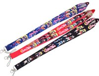 Wholesale japanese cell phone charms resale online - 5 cartoon Japanese anime Sailor Moon Necklace Strap Lanyards Cell Phone PDA Key ID Strap Charms L