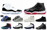 basketbol ayakkabıları us14 toptan satış-Kutu ile 2019 bred 11 basketbol ayakkabısı concord ile 45 11 s kap ve cüppe spor ayakkabısı 9