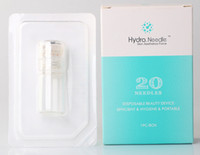 selo de derma 1,5mm venda por atacado-Agulha automática Hydra 20 garrafa Aqua Micro Canal Mesoterapia Agulha de Ouro Sistema de Toque Fino derma stamp