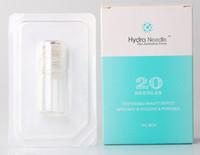 derma damgası 1.5mm toptan satış-Otomatik Hydra İğne 20 şişe Aqua Mikro Kanal Mezoterapi Altın İğne İnce Dokunmatik Sistemi derma damga