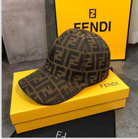 Wholesale beautiful women hats resale online - 662019 classic men and women FF letters casual style trend beautiful heavy industry printing design personalized sports casual hat