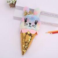 lápices de pascua al por mayor-La caja de lápiz linda de las muchachas de conejito Estudiante lápiz bolsa del helado regalos lápiz bolsa para chicas niños de la escuela suministros regalo de la promoción Pascua