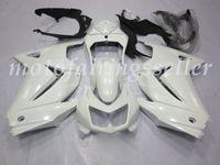 kawasaki verkleidungen weiß großhandel-OEM-Qualität Neue ABS-Spritzguss Fairings Kits gepasst für Kawasaki Ninja 250R EX250 ZX250R 08 09 10 2011 12 13 Karosserie gesetzt Gloss White