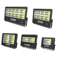 led açık hava ışık fikstürleri toptan satış-Açık Sel LED Işık Armatür 600W 500W 400W 300W IP66 su geçirmez Exterieur COB Projektör 90 Derece Işın Açısı Spotlight
