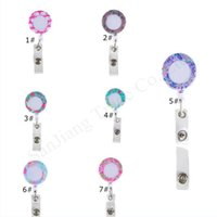 Wholesale retractable card clip resale online - Lilly Floral Retractable Pull Badge Lanyard Name Tag ID Card Holder Reels Recoil Belt Clip key Chain ring Clips Keychains E11308