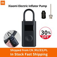 Wholesale portable car tire pump for sale - Group buy Presale Xiaomi Electric Inflator Pump Portable Smart Digital Tire Pressure Detection For Bike Motorcycle Car Football