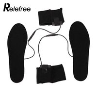 подогрев стельки с подогревом оптовых-Non Woven Black Heated Shoe Insoles Skiing Heater Insoles Heating Sock Electric Foot Heated for Clothing Battery for Keep Warm