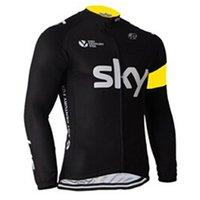 pro велосипедная весна оптовых-SKY Весна Осень с длинным рукавом Быстросохнущий велосипедный джерси Mountain Pro team одежда для велоспорта Ropa Ciclismo Hombre