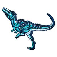 drachen stickerei patch großhandel-Tyrannische Drachen Dinosaurier Stickerei Patches für Streifen Stoff nähen Eisen auf Applique Reparatur Abzeichen Patch für Kleidung Jacke Tasche Jeans Tasche