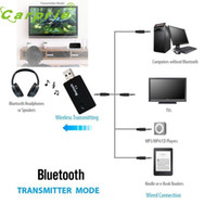 Wholesale new car audio dvd resale online - New Arrival TX9 Bluetooth Audio Music Transmitter USB mm Male to Male for TV DVD MP3 nr29 car