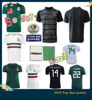 uniformes de futbol mexico al por mayor-México camiseta de fútbol de la Copa Oro 2019 MUJERES Camisetas hombres Uniforme CHICHARITO LOZANO DOS SANTOS camisa de futbol 2018 copa del mundo de fútbol de la camisa