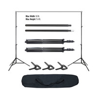 Wholesale High Quality Ft Pro Photography Photo Adjustable Background Support Stand Photo Backdrop Crossbar Kit US in Stock