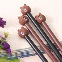 pluma de oso lindo al por mayor-Pluma linda de Signture del oso Pluma de los efectos de escritorio que escribe la pluma linda de la escritura
