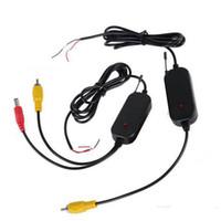 gps traseiro da câmera venda por atacado-2.4G receptor sem fio transmissor sem fio 2.4G para carro GPS portátil GPS Handheld back up Reversa câmera de visão traseira WF