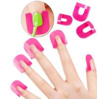 Wholesale french nail online - Nail Gel Model Clip Nail Edge Gradient Print French Nail Polish Glue Overflow Preventing Tool set KA6442