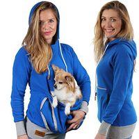 känguruhhalter großhandel-Cooles design langarm sweatshirts frauen hoodies pet halter schöne katze hund känguru beutel träger pullover mantel kostüm