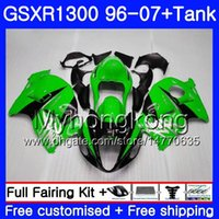 kits de carenagem para hayabusa venda por atacado-Hayabusa Suzuki GSXR1300 96 97 98 99 00 01 07 Kit Verde Gloss 333HM.148 GSXR 1300 GSXR1300 1996 1997 1998 1999 2000 2001 2007 Fairing
