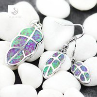 Wholesale best seller jewelry for sale - Group buy SHUNXUNZE best sell Pink opal luxury fashion Wedding jewelry sets earring pendant womens accessories Best Sellers Rhodium Plated R4090set