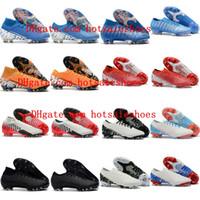 zapatos de fútbol al por mayor-2019 zapatos de fútbol para hombre de alta calidad Mercurial Vapors XIII Elite FG botas de fútbol botas de fútbol para exteriores Mercurial Superfly VII 360 Elite FG