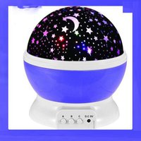 Wholesale animal projection lamp for sale - Group buy 3 Colors LED Rotating Projector Starry Sky Night Lamps Romantic Projection Light Moon Romantic Night Light Novelty Lamps