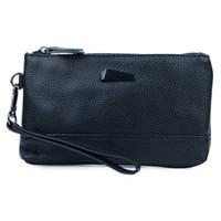 женские кошельки для женщин оптовых-New Arrivals Genuine Leather Women Day Clutches with Hand Rope Small Size Handbag 2019 Hot  Female Large Capacity Wallets
