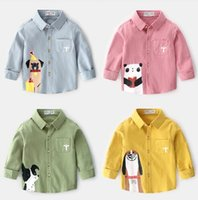 Wholesale New boy s shirt long sleeve spring fashion children s clothes baby s top children s new style children s shirt pure cotton