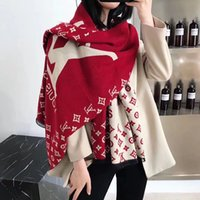 dupla face cashmere pashmina venda por atacado-2019 novo cachecol de moda de alta qualidade quente clássico lenço de Dupla face Dupla cor design Casual xale para homens e mulheres Cashmere Pashmina