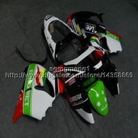 ingrosso kawasaki zx9r 1998 rivestimento verde-23 colori + Botls scafo moto rosso verde bianco per scafo carena Kawasaki ZX9R 1998-1999
