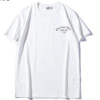 ingrosso stampa magliette-2019 nuovi uomini donne Di lettera logo stampa T-Shirt o manica corta O-Collo T-Shirt Kanye West Lettera Stampa Sportwear all'ingrosso