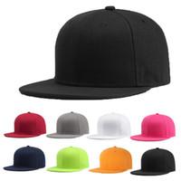 Wholesale black baseball caps blank resale online - Sports Baseball Cap Blank Plain Solid Snapback Golf ball Hip Hop Hat Men Women