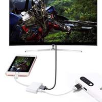 conversor de telemóvel venda por atacado-Conector do Cabo HDMI 8 Pinos para Adaptador AV Digital relâmpago para hdmi Telefone Móvel com tela do cabo HD para Iphone7 8 X XS XR para conversor hdmi