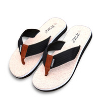 ленточные тапочки оптовых-New Summer  Men Flip Flops Printing Eva Ribbon Non-Slip Soft Slides Home Slippers Casual Playa Tongs Sandals Beach Shoes