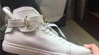 красная удобная обувь оптовых-Дизайнер кроссовки Top Яловичная Мужская мода Удобные повседневные плоские ботинки высокие ботинки Стопорные обувь красный / черный / белый