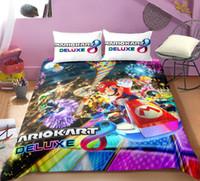 Wholesale children quilt set resale online - Home textiles Cartoon bed linen for children Quilt Duvet Cover Pillow Bedding Sets Twin Full Queen Size