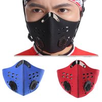 Wholesale carbon road cycling resale online - Breathable Activated Carbon Cycling Mask Mountain Bike Road Bike Bicycle Half Face Mask Dustproof Cycling Running Sports