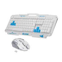 metal pc fareler toptan satış-PC Laptop için Kablosuz Klavye ve Fare Combo 2.4G Metal Panel Klavye Optik Fare 2400 Ergonomik Tasarım