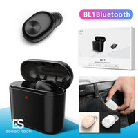 Wholesale iphone battery gold online - BL1 mini wireless bluetooth headphones headset wireless earbuds in ear Earphones V4 mah battery charger case with retail package