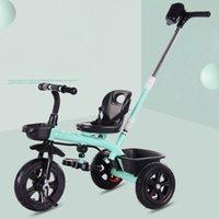 şemsiye koltuk toptan satış-1-6 yaşında İhtiyarlara Kemer Üç Tekerlekler Üç Tekerlekli Bisiklet Stroller ile Şemsiye Güvenli Seat olmadan Fonksiyonlu Bebek Çocuk Tricycle Bisiklet