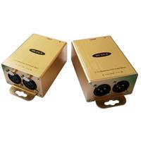 xlr gold großhandel-XLR Extender XLR zu RJ45 Balanced Audio zu RJ45 Professionelles Audio über Cat5 / 6 XLR Audio Isolation Extender mit Rauschunterdrückung
