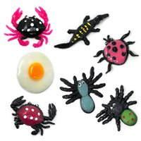 Wholesale spider toy scary for sale - Colorful TPR Simulation Big Spider Lob Model Toys Prank Tricky Scary Toys Halloween Props Children s Model Toys