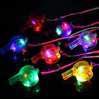 Wholesale glow series for sale - Group buy Glowing Flashing Whistle Colorful Lanyard LED Light Up Fun In the Dark Party Rave Glow Party Favors Kids Children Electronic Toys with box