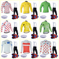 Wholesale tour france cycling jerseys sets for sale - Group buy TOUR DE FRANCE team Cycling Winter Thermal Fleece jersey bib pants sets D gel pad clothing Ropa Ciclismo U90306