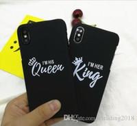 krone telefon abdeckungen großhandel-PROMOTION Luxus Silikon-Telefon-Cover-Girl Mode-Königin König Crown Soft Case für iphone