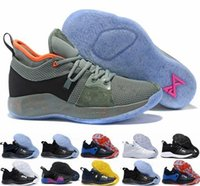 Wholesale george pig plush for sale - Group buy 2018 High Quality Paul George PG II Basketball Shoes for Men Cheap PG2 S Starry Blue Orange All White Black Sports Sneakers