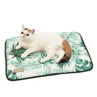 Wholesale dog printed blankets resale online - 3D Print Ice Silk Pet Dog Summer Cooling Mat For Cat Dogs Floor Mats Blanket Sleeping Bed Cushion Cold Pad Pet Supplie Size