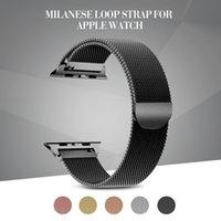 magnetschlaufe apfel uhrenarmband großhandel-Milanese Loop Strap für Apple Watch Band 38mm 42mm Edelstahl Armband magnetisch verstellbar für Apple Watch Serie 4 3 2 1