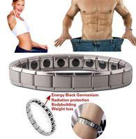 pulseira de aço de titânio magnético de saúde venda por atacado-Moda Saúde Energia Pulseira Hematita Pulseira Homens Jóias Titanium Aço Inoxidável Terapia Magnética Pulseira de Presente 3 estilo MMA2247